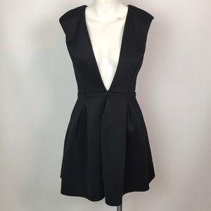 Windsor Black Fit & Flare Scuba Dress Size M